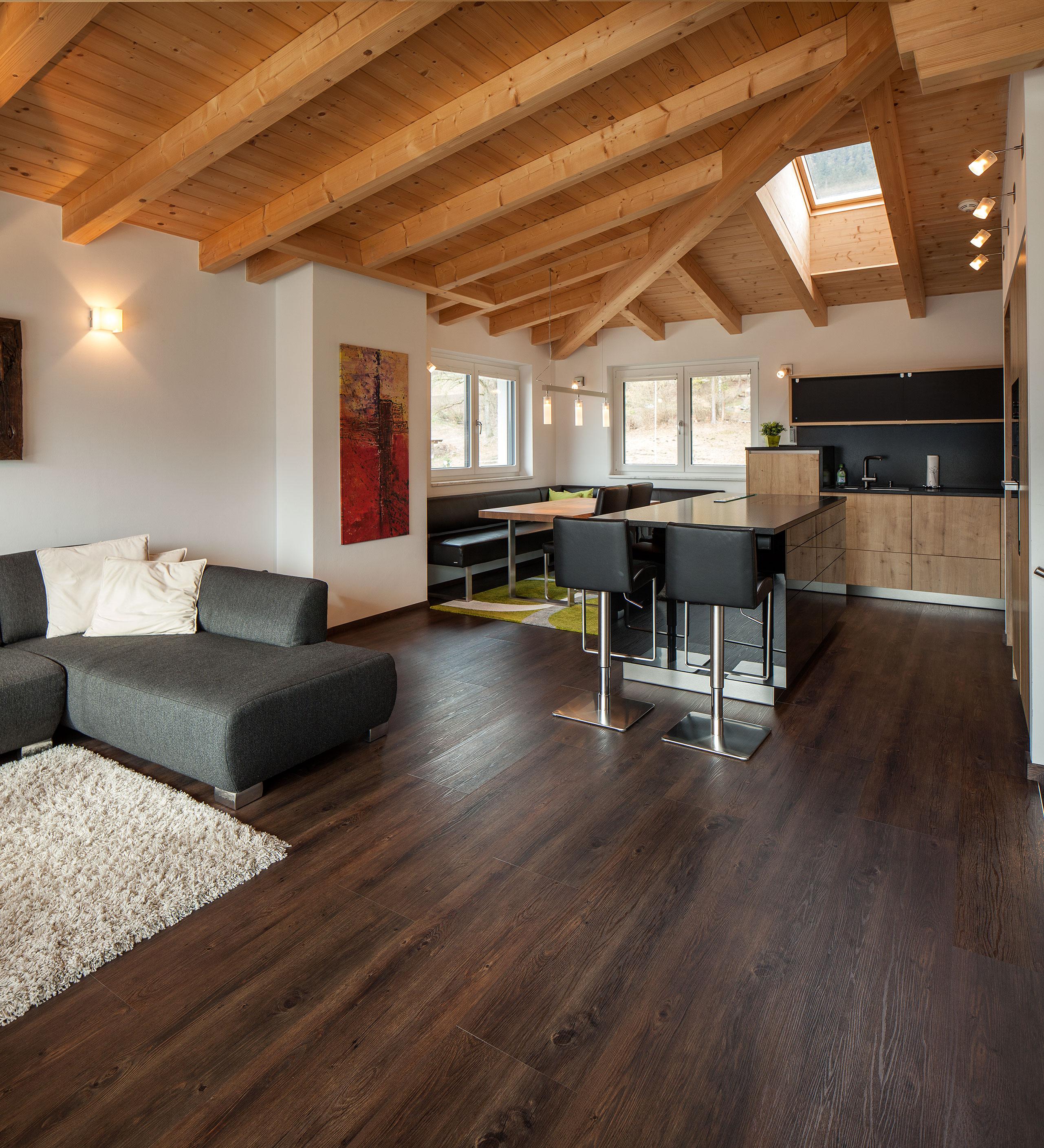 vinylbelag pronto economy plus eiche dunkel rustikal wohnemotion parkett und naturb den. Black Bedroom Furniture Sets. Home Design Ideas