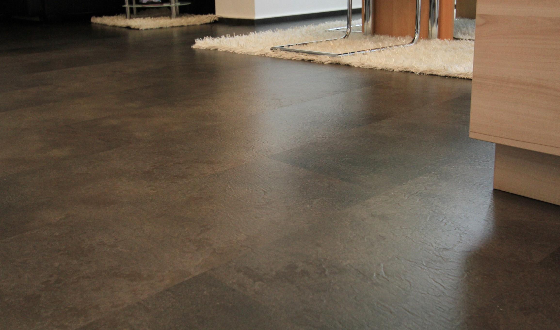 Vinylbelag pronto design lava stein wohnemotion parkett for Boden steinoptik